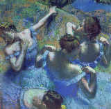 Edgar Degas - Blue Dancers, c.1899