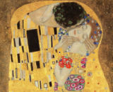 Gustav Klimt - Detail of The Kiss, 1907-08