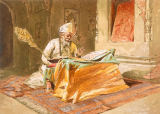William 'Crimea' Simpson - Sikh Priest Reading the Grunth, Umritsar, from 'India Ancient and Modern', 1867