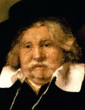 Harmensz van Rijn Rembrandt - Detail of a Portrait of an old man, 1667