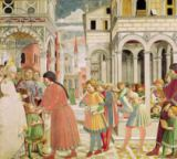 Benozzo di Lese di Sandro Gozzoli - St. Augustine is led by his parents at the School of Tagaste, from the Life of St. Augustine, 1464-65