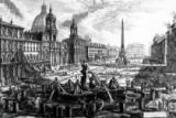 Giovanni Battista Piranesi - View of the Piazza Navona, from the 'Views of Rome' series, c.1760