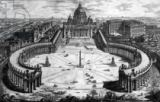 Giovanni Battista Piranesi - Bird's-eye view of St. Peter's Basilica and Piazza, form the 'Views of Rome' series, c.1760