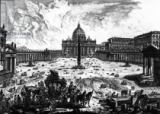 Giovanni Battista Piranesi - View of St. Peter's Basilica and Piazza, from the 'Views of Rome' series, c.1760