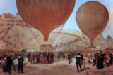 Jules & Jacques Didier & Guiaud - The Departure of Leon Michel Gambetta (1838-82) in the Balloon 'L'Armand-Barbes', 7 October 1870