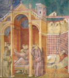 Giotto di Bondone - The Vision of Brother Agostino and the Bishop of Assisi, 1297-99