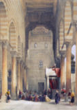 David Roberts - Interior of the Mosque of the Metwalys, Cairo, from 'Egypt and Nubia', Vol.3
