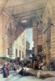 David Roberts - Bazaar of the Silk Merchants, Cairo, from 'Egypt and Nubia', Vol.3