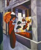 August Macke - In front of the Hat Shop, 1914