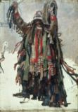Wassili Iwanowitsch Surikow - A Shaman, sketch for 'Yermak Conquers Siberia', 1893
