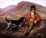 Ramsay Richard Reinagle - Portrait of John Peel (1776-1854) with one of his hounds