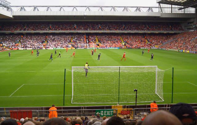 Photo Print Anfield Stadium Fussballspiel Fussballstadion Fans Tribune By Prisma F1 Online On Glossy Normal