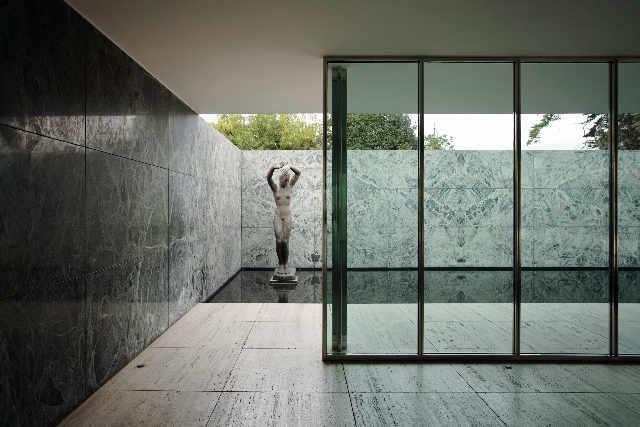 Sander Ludwig Mies Van Rohe Barcelona Pavillon Dreihundert Kunstdruck