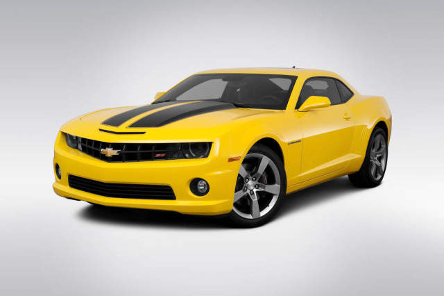 Drive Images 2011 Chevrolet Camaro 2ss Yellow Front Angle Art Print
