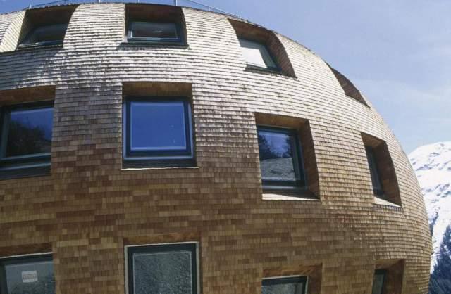 Prisma Rundes Haus Schindeln Norman Foster St Moritz Modernes Art