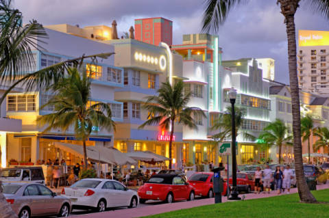 Foto-Kunstdruck: Prisma (F1 Online), Art Deco District, Miami Beach, Miami