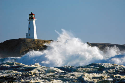 Foto-Kunstdruck: All Canada Photos (F1 Online), Thomas Kitchin & Victoria Hurst, Peggys Cove, Peggys Bucht