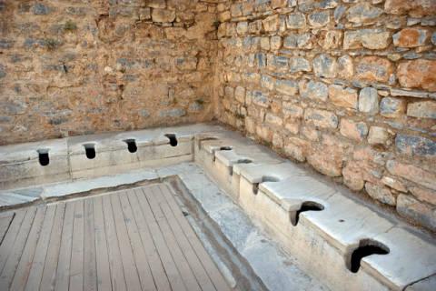 prisma ephesos toiletten griechisch r misch kunstdruck. Black Bedroom Furniture Sets. Home Design Ideas
