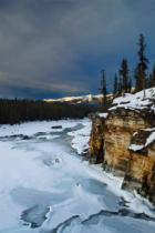 All Canada Photos (F1 Online) - Athabasca Falls, Athabasca-Fluss, Hoher Winkel
