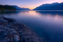 First Light (F1 Online) - Summer sunrise on Abraham Lake in the Canadian Rockies, Alberta, Canada