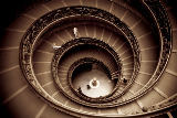 First Light (F1 Online) - Spiral staircase by Giuseppe Momo leading to main floor of Vatican Museum, Vatican City, Rome