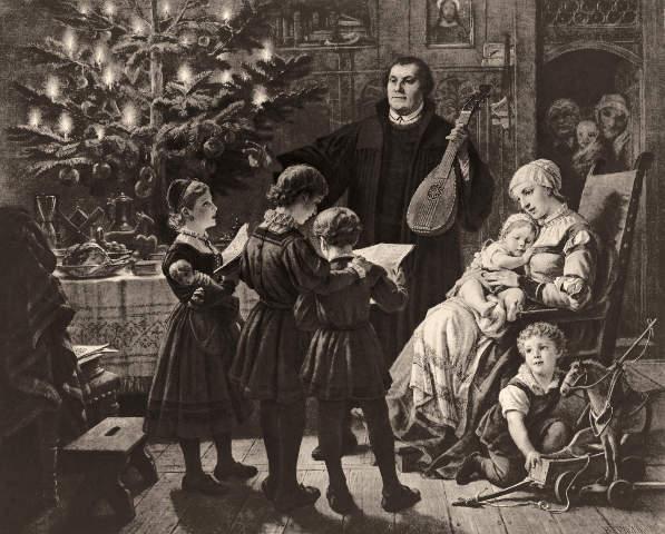 Plockhorst Luther Im Kreise Seiner Familie Am Weihnachtsabend Art