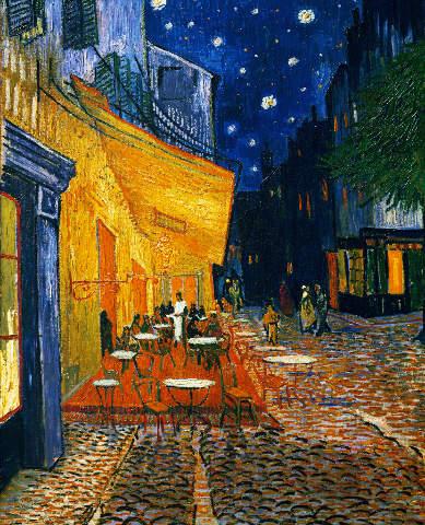 Van Gogh Terrasse Cafes Place Du Forum Arles Abend Kunstdruck