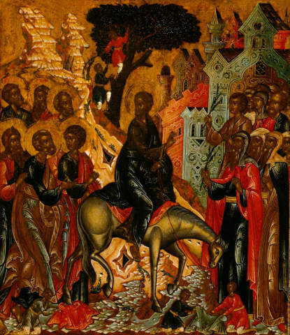 In jerusalem einzug jesus Jesus kennen