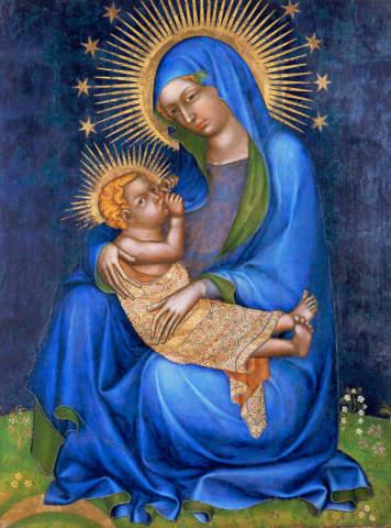 mittelalterliche kunst, jungfrau maria