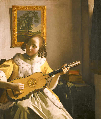 Vermeer: Guitar player. Art Print