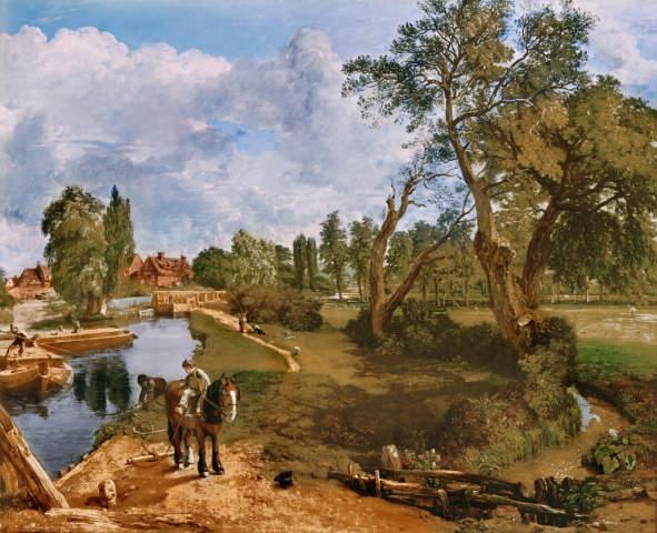 Art Print Painting Poster John Constable Navigable River Flatford Mill
