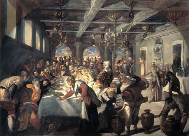 Tintoretto Die Hochzeit Zu Kana Kunstdruck Leinwandbild