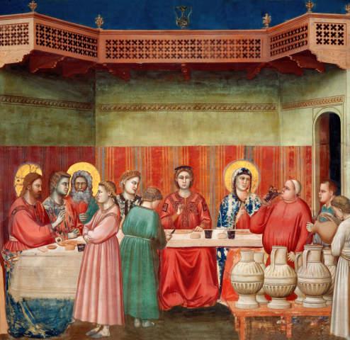 Di Bondone Die Hochzeit Zu Kana Kunstdruck Leinwandbild