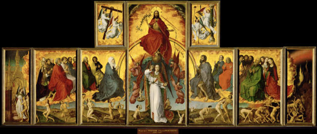 Bildergebnis für Weltgericht Retabel Weyden