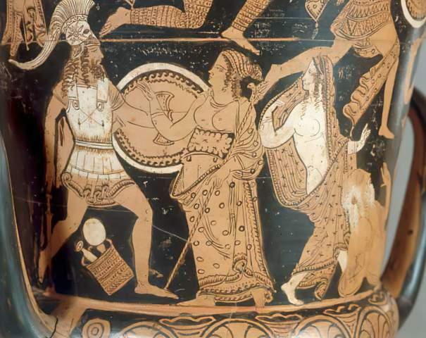 Vasenmalerei Menelaus Aphrodite Helen Vase Paint