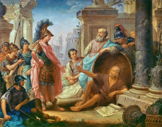 Fine Art Reproduction Alexander The Great And Diogenes By Thomas Christian Wink On Kunstdruckpapier