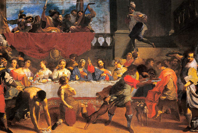 Carlo Bononi Die Hochzeit Zu Kana Kunstdruck Leinwandbild