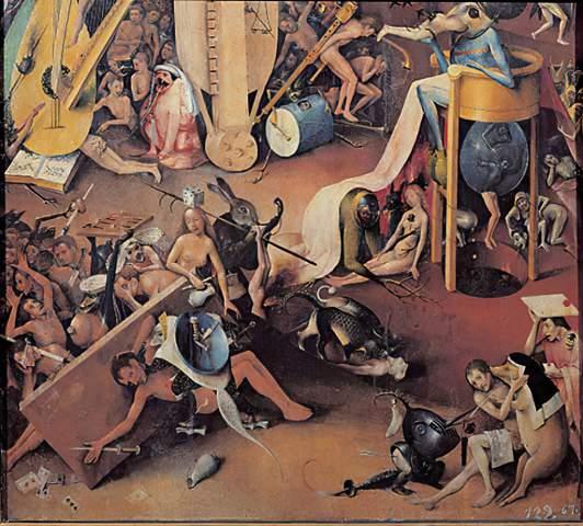 Bosch Bosch Garten Der Lüste Hölle Ausschn Art Print Canvas