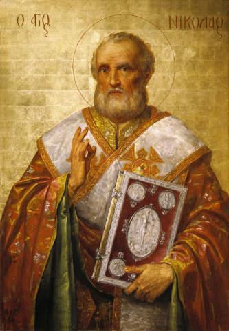 16 Jahrhundert Der Heilige Nikolaus Kunstdruck Leinwandbild