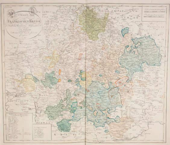 F L Gussefeld Landkarte Von Franken 1797 Kunstdruck