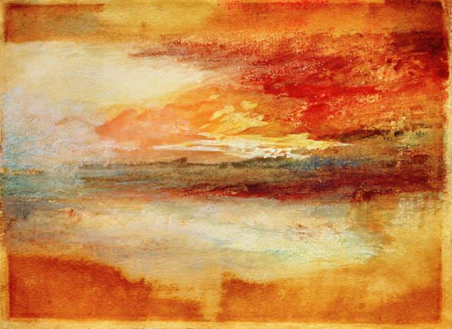 William Turner Sonnenuntergang auf dem Meer Expressio Lein-Wand-Bild Kunstdruck