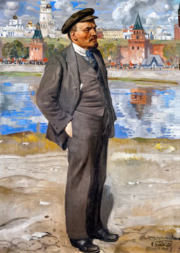 Fine Art Reproduction, individual art card: Isaak Israiljewitsch Brodsky, Lenin in front of the Kremlin