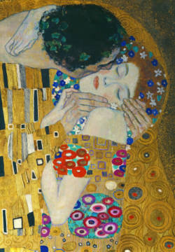 Fine Art Reproduction, individual art card: Gustav Klimt, The Kiss