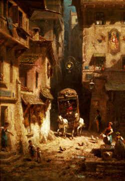 Fine Art Reproduction, individual art card: Carl Spitzweg, The Post