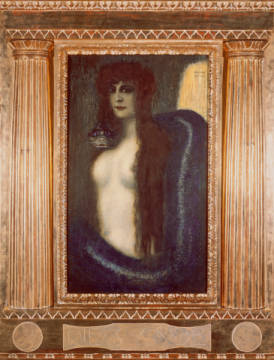 Sin / 1893 / II of artist Franz von Stuck as framed image