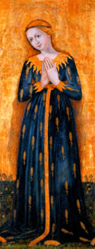 Madonna in Robe of Ears / Paint./ c.1450 of artist Sterzinger Meister as framed image