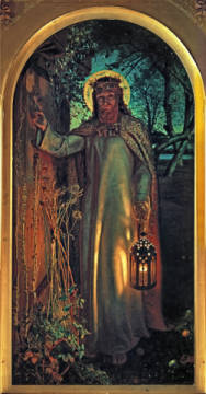The Light of the World von Künstler William Holman Hunt als gerahmtes Bild