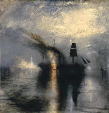Kunstdruck, individuelle Kunstkarte: Joseph Mallord William Turner, Peace-Burial at Sea
