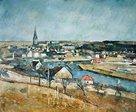 Kunstdruck: Paul Cézanne, Un village