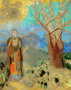 The Buddha of artist Odilon Redon as framed image
